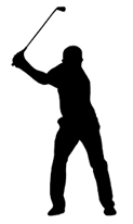 image of a male swinging a golf club