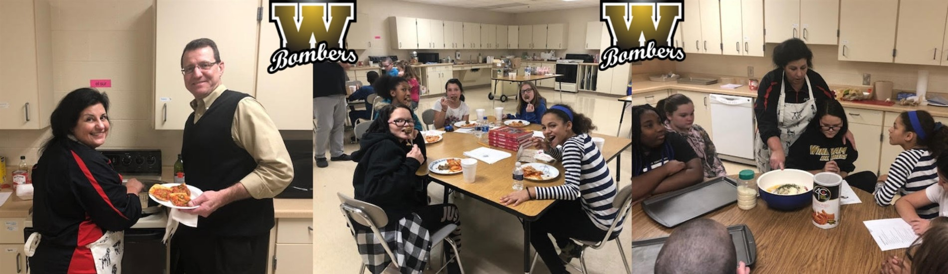 The after school program learns to cook an Italian meal!