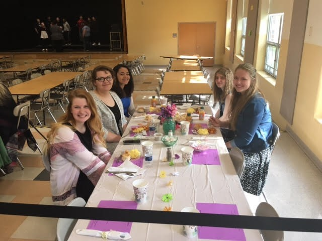 Student council helps with the Senior Citizens Brunch.