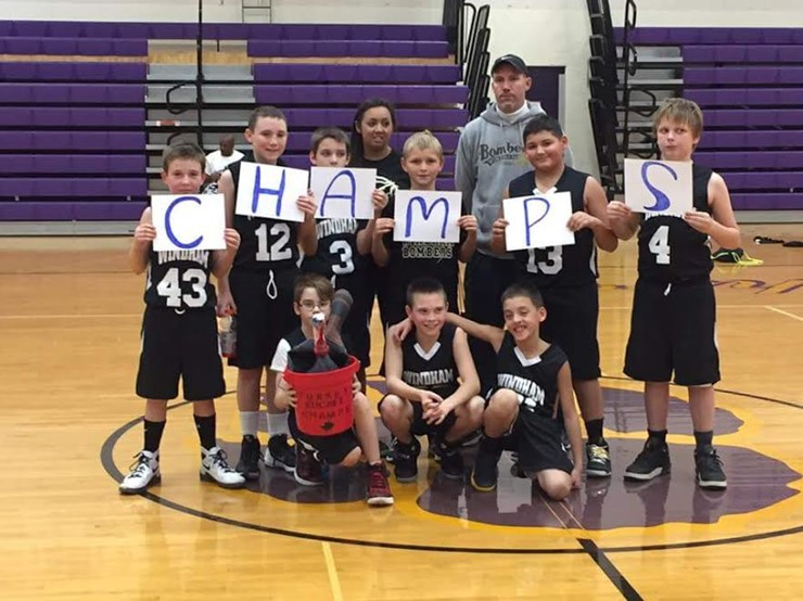 5th grade champs of the Turkey Bucket Tournament!