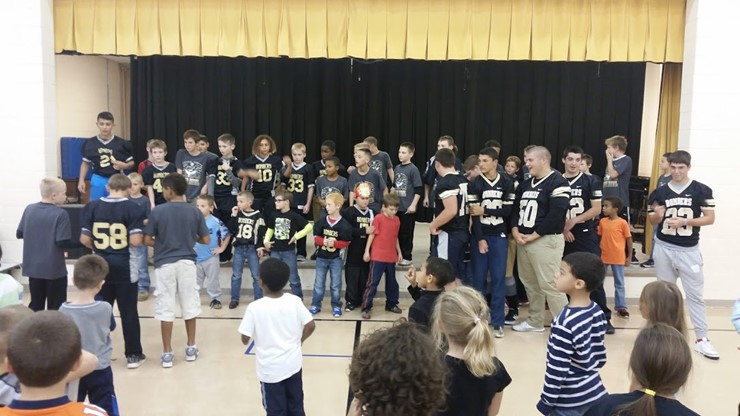 KT pep rally for youth bomber game