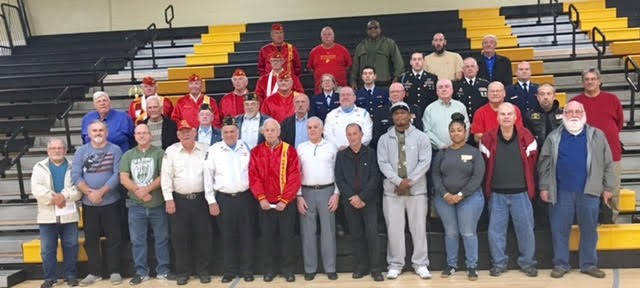 The JR/SR High honored all of those who have served on Veterans Day.