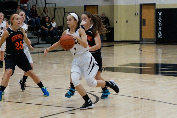 Senior Lexi Knight drives to the hoop!