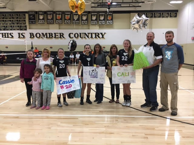 Volleyball seniors were honored prior to the game against Chalker on Thursday, October 13th.