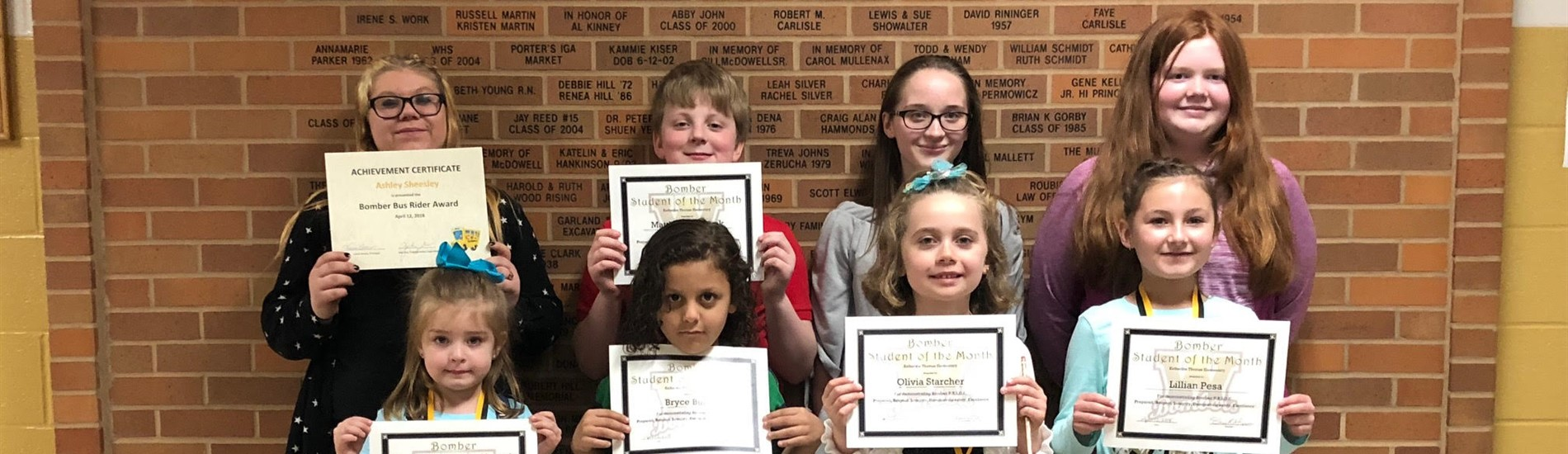Congratulations to our March Students of the Month!