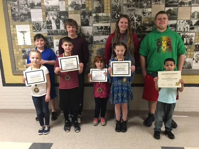 Students were honored at the February Board Meeting for their academic and behavior achievements!