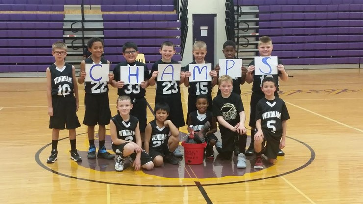 The 4th grade basketball team took first place in the gold's bracket Turkey Bucket Tournament!